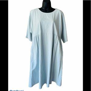 Zanzea Oversized Cotton Summer Dress  Modest Sz L